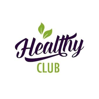 Lettering e foglie sani del club