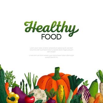 Design banner cibo sano food