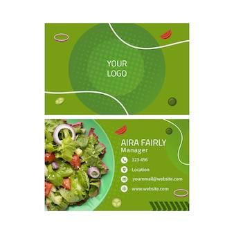 Modello di biglietto da visita di cibo sano