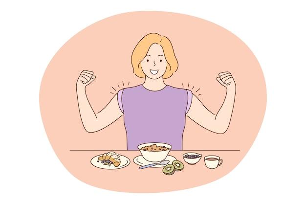 Cibo sano, mangiare pulito, concetto di nutrizione.