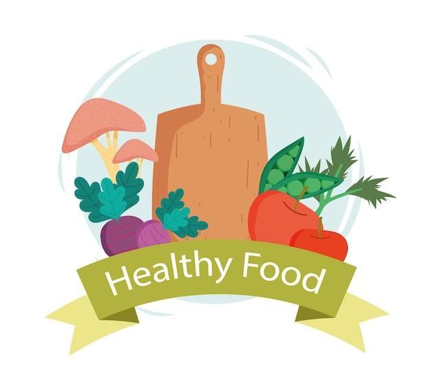 Etichetta di cibo sano