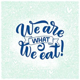 Lettering cibo sano per banner design