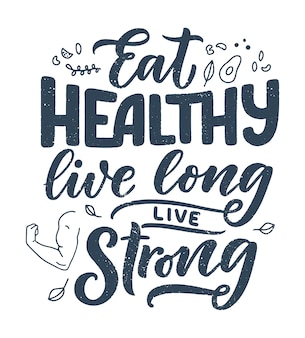 Lettering cibo sano