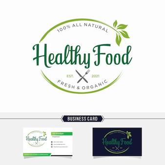 Logo di cibo sano