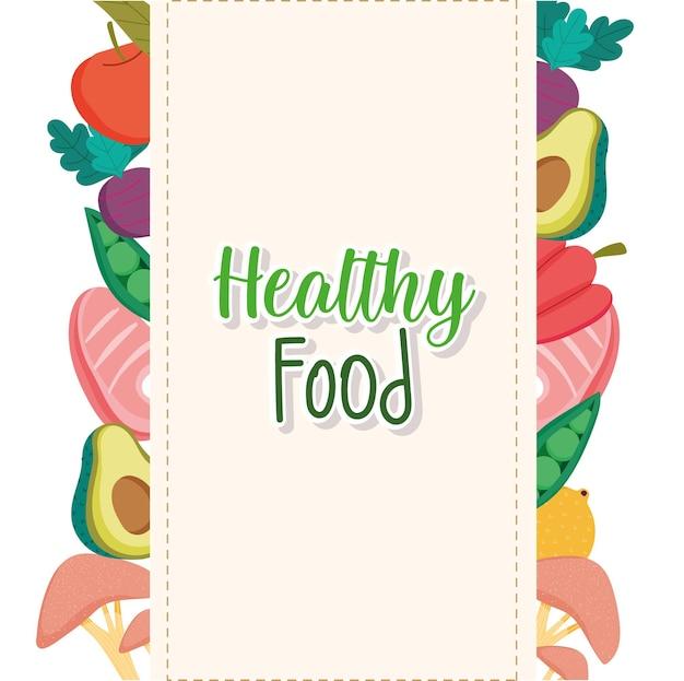 Menu di cibo sano