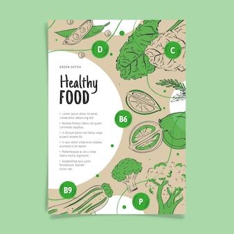 Modello del manifesto di cibo sano