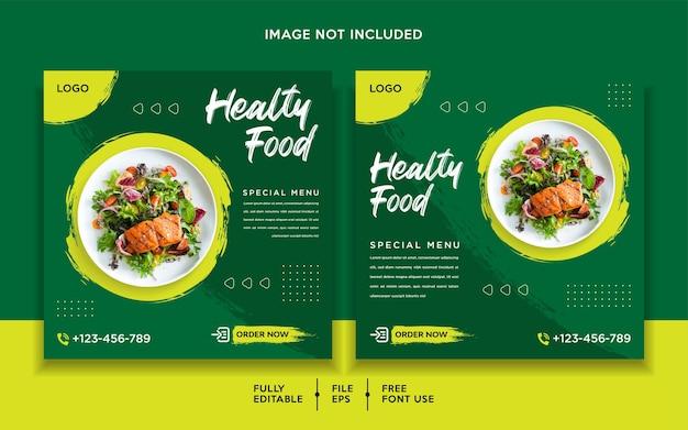Modello di post promozione di cibo sano