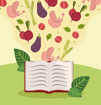 Libro di ricette di cibi sani