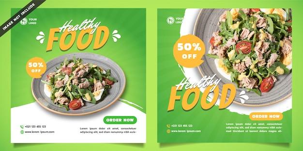 Modello di social media cibo sano