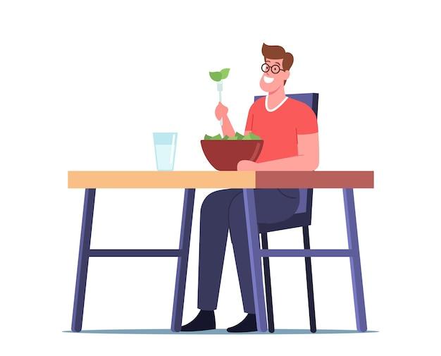 Cibo sano, nutrizione vegetale, vegetariano in ristorante con cibo naturale