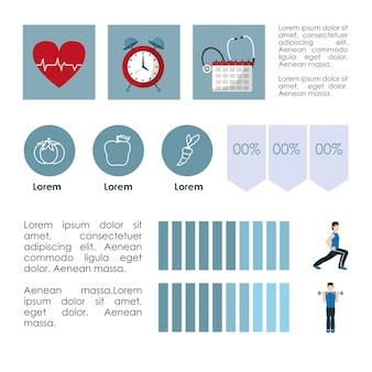Stile di vita abitudini sane infografica