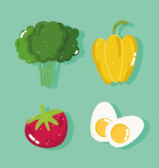 Set di ingredienti sani