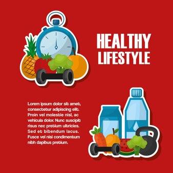 Stile di vita sano nutrizione sportiva attiva