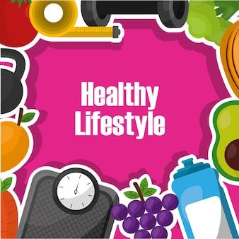 Stile di vita sano esercizio sport nutrizione alimentare