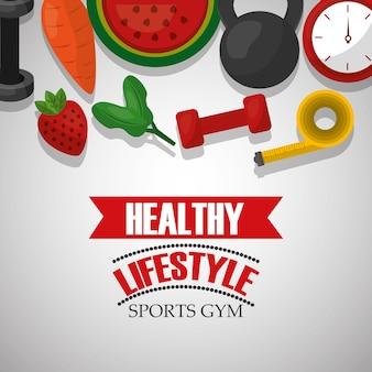 Stile di vita sano palestra sportiva frutta nutrizione