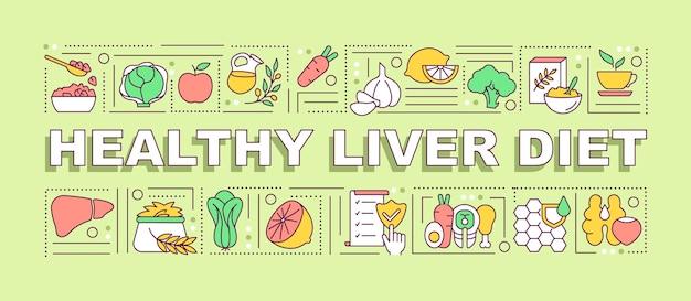 Banner di dieta sana del fegato