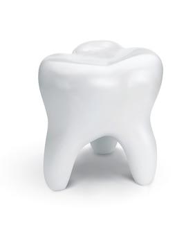 Denti sani per la progettazione di odontoiatria. illustrazione