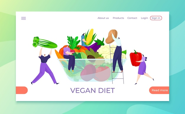 Dieta vegana sana con alimenti biologici
