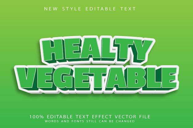L'effetto di testo modificabile vegetale sano imprime lo stile moderno