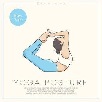Giovane donna in buona salute che pratica yoga in abito color pastello.