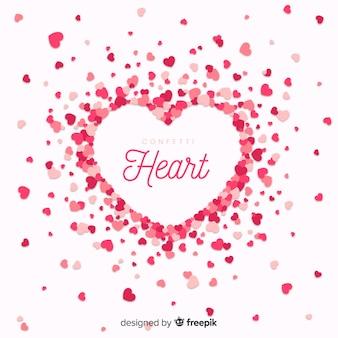 Sfondo di cuore Vettore Premium