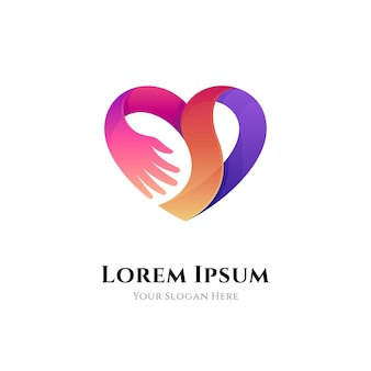Logo sfumato di cura del cuore