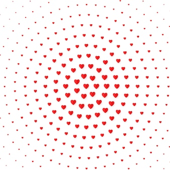 Sfondo di colore mezzitoni cuore. san valentino e carta di invito matrimonio, romanticismo e amore. illustrazione