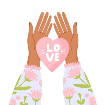 Cuore in mano simbolo d'amore