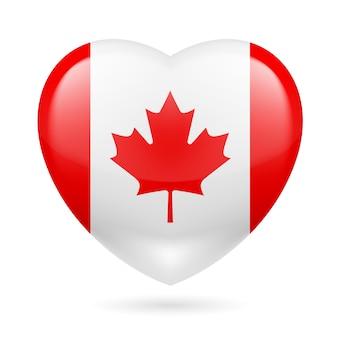 Icona del cuore del canada