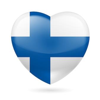 Icona del cuore della finlandia illustrazione