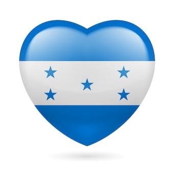 Icona del cuore dell'honduras