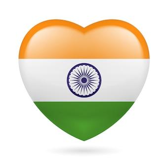 Icona del cuore dell'india