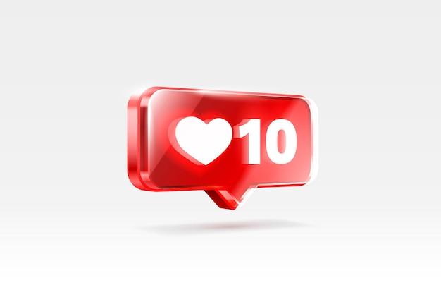Cuore come icona segno follower d banner love post social media vector