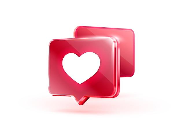 Cuore come icona segno follower amore post social media