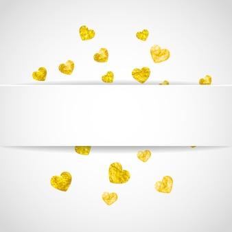 Cornice di carta cuore per san valentino con glitter.