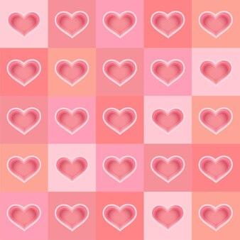 Stile artistico della carta di sfondo a forma di cuore
