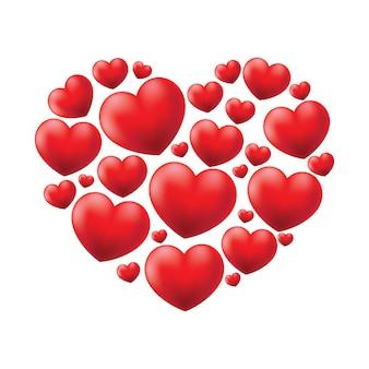 Illustrazione a forma di cuore
