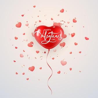 Palloncino a forma di cuore per il design di san valentino.