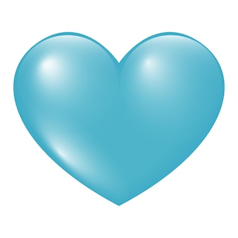 Icona minimalista di forma di simbolo di amore della siluetta del cuore.