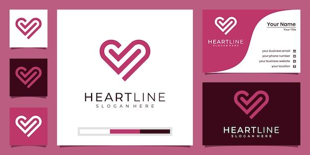 Logo del modello icona simbolo del cuore