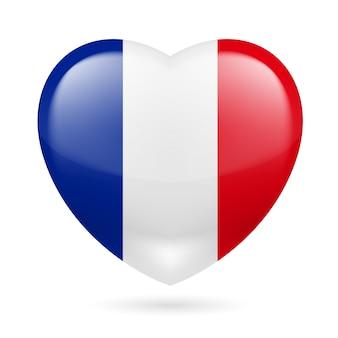 Cuore con i colori della bandiera francese
