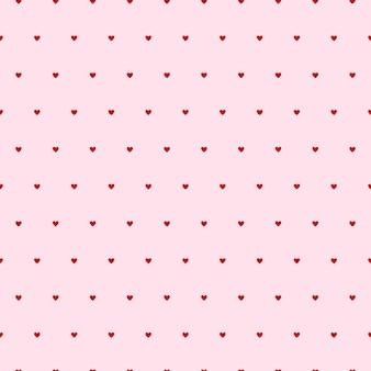 Modello senza cuciture dei cuori. sfondo vettoriale rosa con cuore. modello di amore per il giorno di san valentino o il matrimonio. stampa o web design piatto.