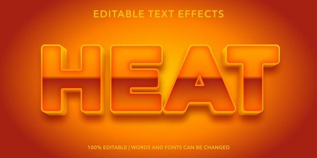 Effetto di testo modificabile in stile 3d di calore
