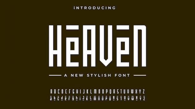 Heaven alphabet font