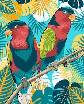 Poster di uccello del cielo