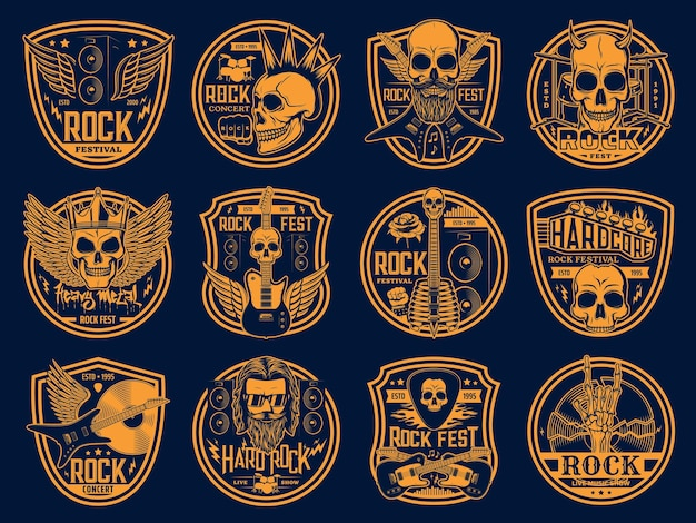 Set di musica rock e punk pesante.