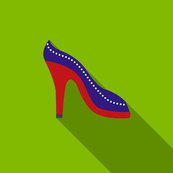 Simbolo del segno di vettore isolato illustrazione piana dell'icona della scarpa col tacco