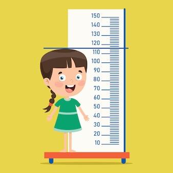 Misura di altezza per bambini piccoli