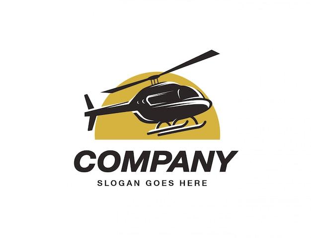 Modello di logo di elicottero