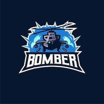Logo design mascotte elicottero